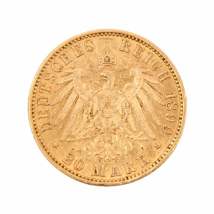 Prussia/GOLD - 1899, 20 Mark, - photo 2