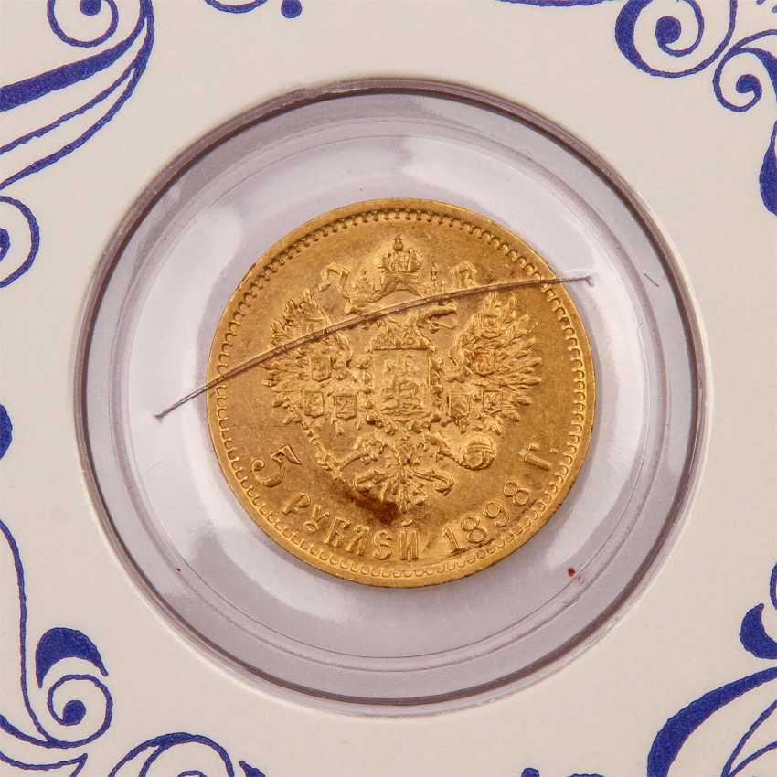 Russia - 5 rubles 1898/r, - photo 3