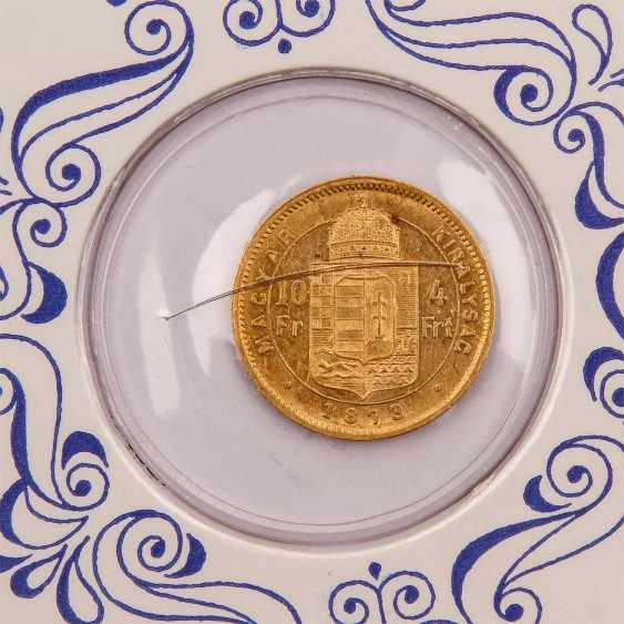 Ungarn - 4 Forint 1878/K.B., - photo 3