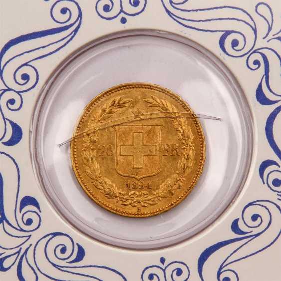 Switzerland - 20 Francs 1894, - photo 3