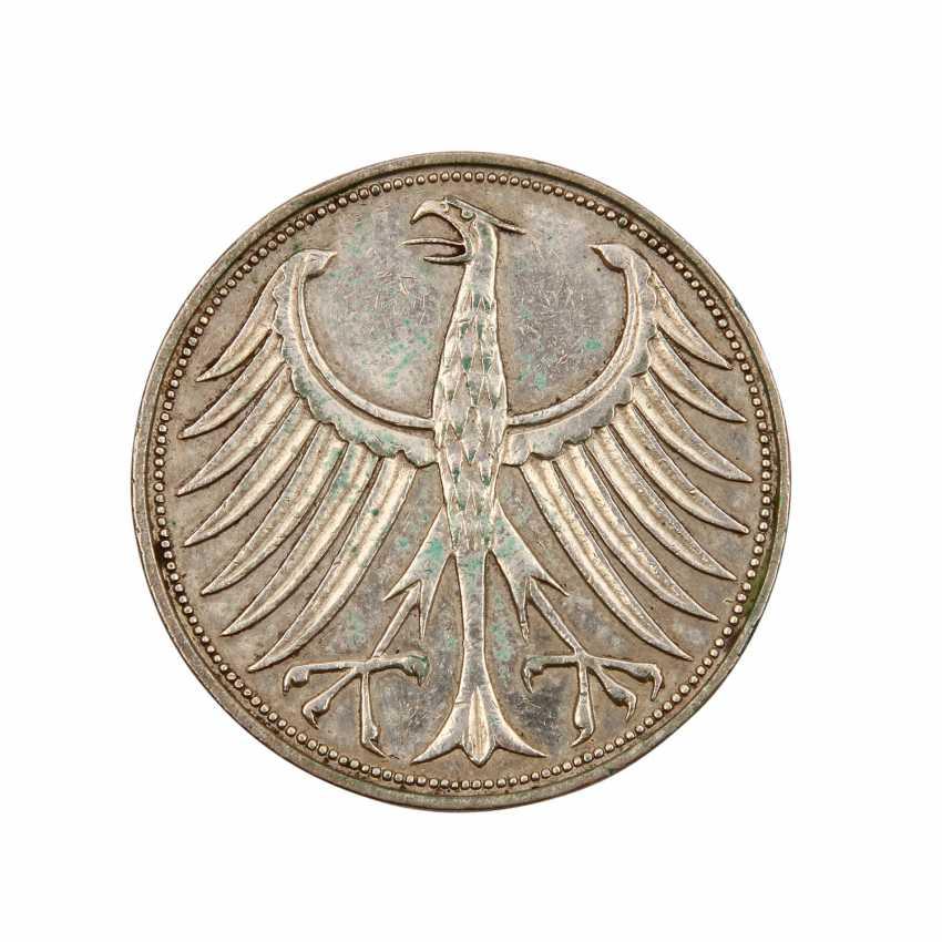BRD 5 Deutsche Mark 1958 J, - photo 1