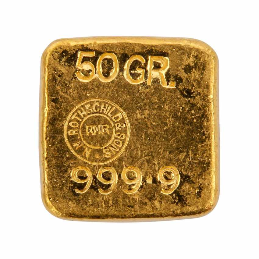 ROTHSCHILD & SONS 50 grams of gold bars, - photo 3