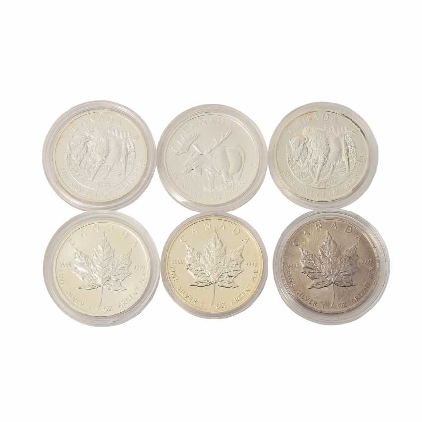 Canada - mixed lot of 5 silver coins, - photo 1