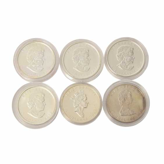 Canada - mixed lot of 5 silver coins, - photo 2