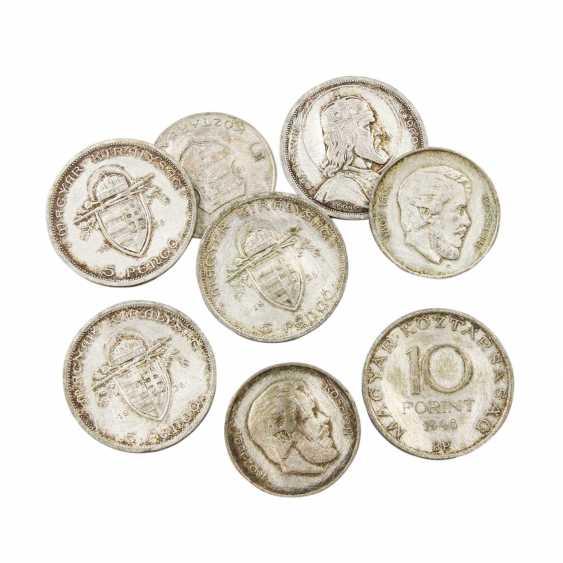 Hungary/SILVER - 3 x 5 Forint, 1947, - photo 1