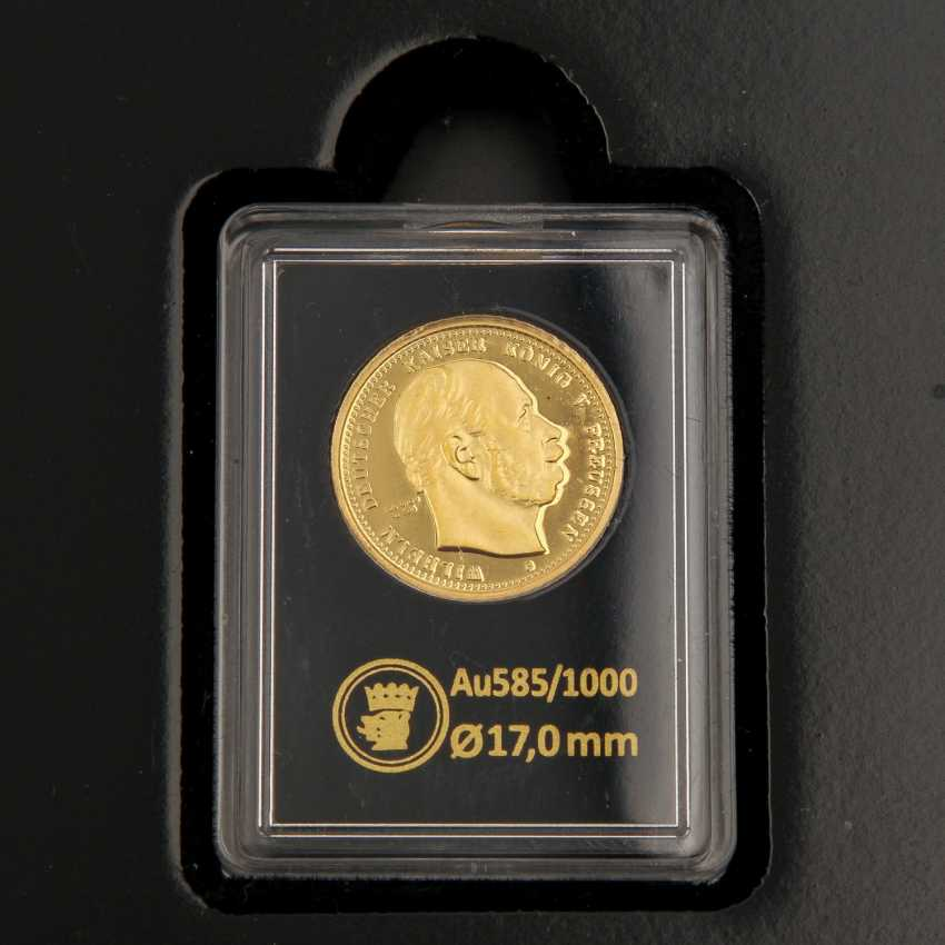 GOLD - Box with 10 gold medals, 585 alloy, - photo 4
