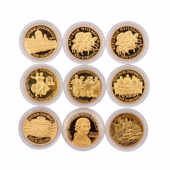 Very nice 9 piece gold Austria group - consisting of - photo 1