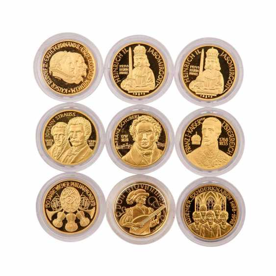 Very nice 9 piece gold Austria group - consisting of - photo 2