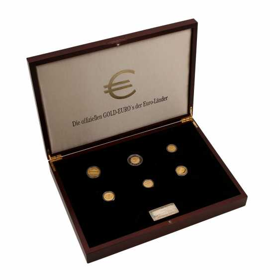 "Nice Set of ""The official GOLD EUROS in the Euro countries"" - - photo 1"