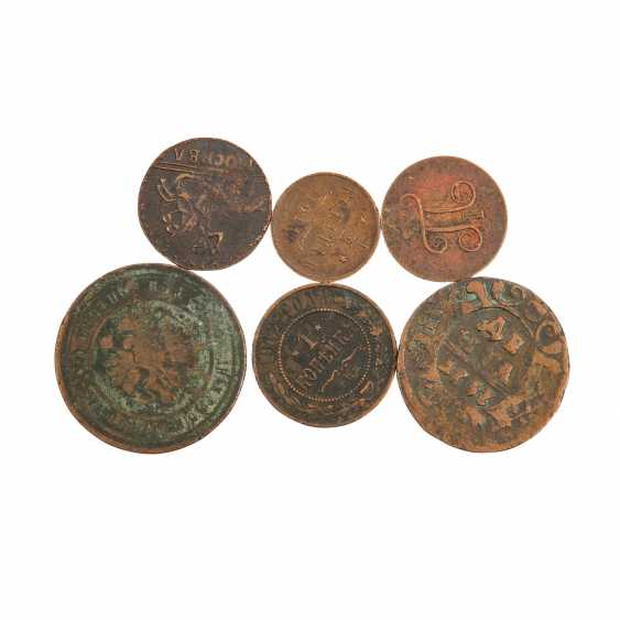 Russia - collection of various copper coins and silver coins. - photo 2