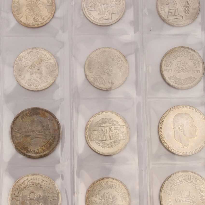 Egypt Album with mostly silver coins, - photo 4