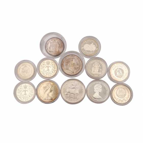 World coins - mixed lot of 10 silver coins, - photo 1