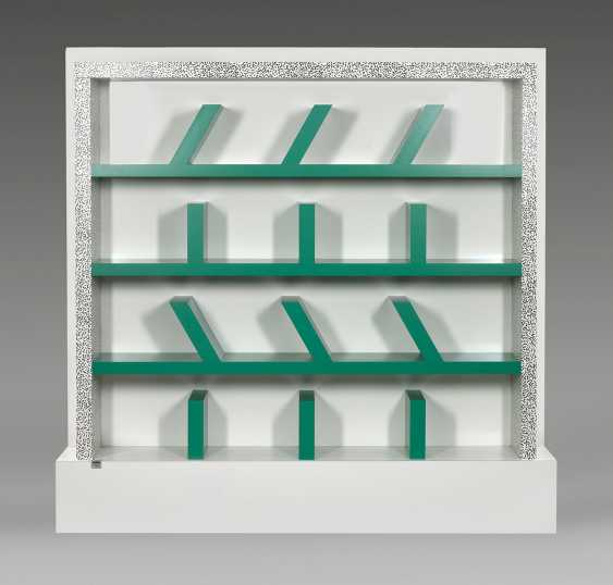 "Rare Memphis bookshelf ""Suvretta"" by Ettore Sottsass - photo 1"