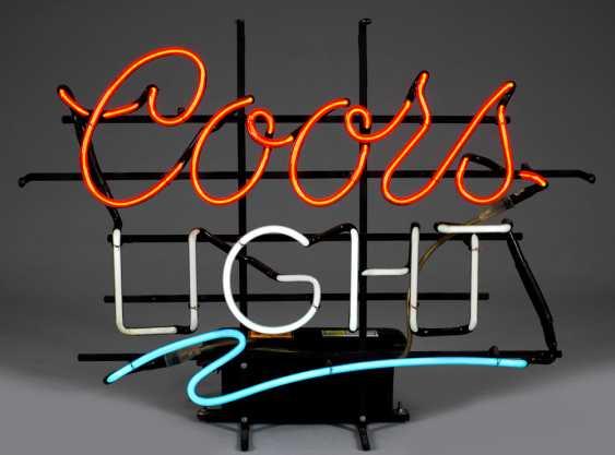 "Vintage Leuchtreklame ""Coors Light"" - photo 1"