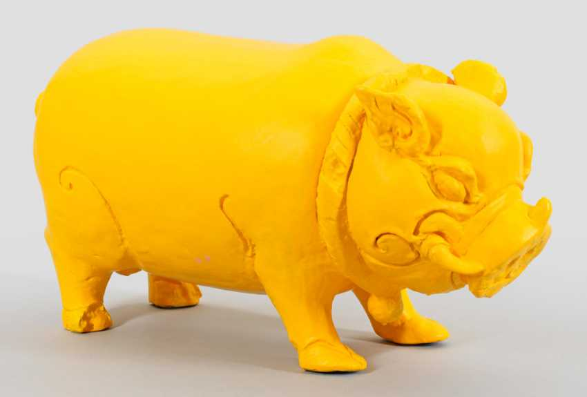 Indonesian Pig Sculpture - photo 1