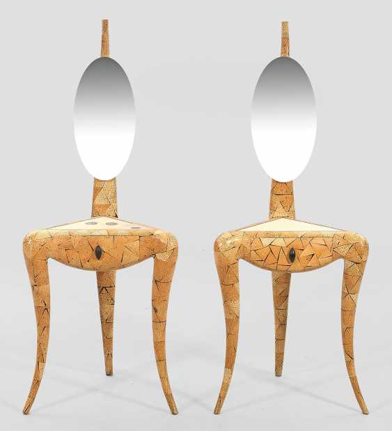 Pair of mirror tables from Augousti - photo 1