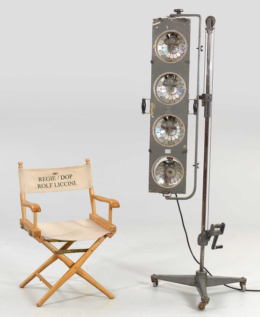 Large Movie lights and Director's chair by Rolf Liccini - photo 1