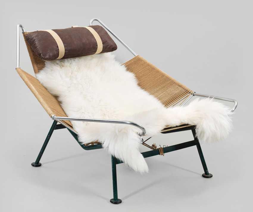 "Rare ""Flag Halyard Chair"" by Hans J. Wegner - photo 1"