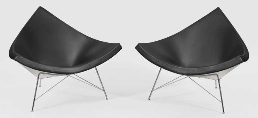 Paar Coconut-Chairs von George Nelson - photo 1