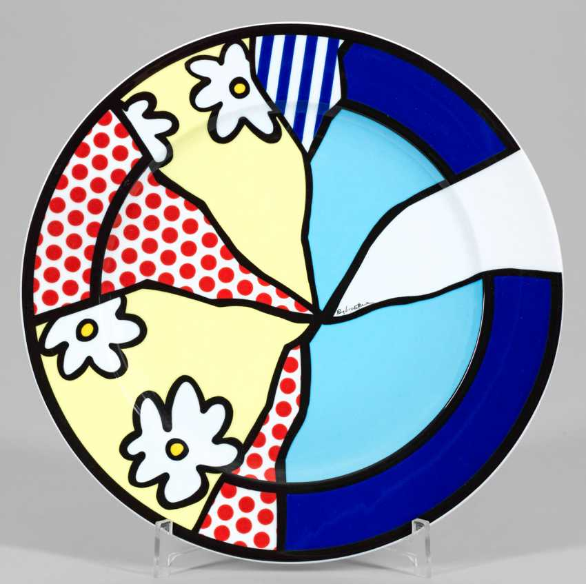 """Large limited edition """"artists ' plates"""" by Roy Lichtenstein - photo 1"""