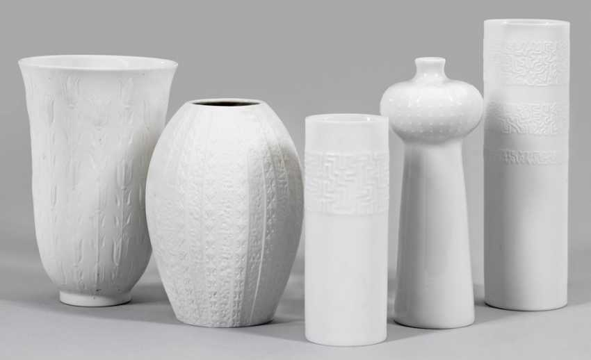 Collection of five Op Art vases - photo 1