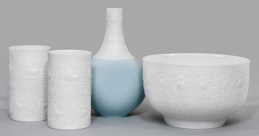 Three vases and a bowl by Bjorn Wiinblad - photo 1