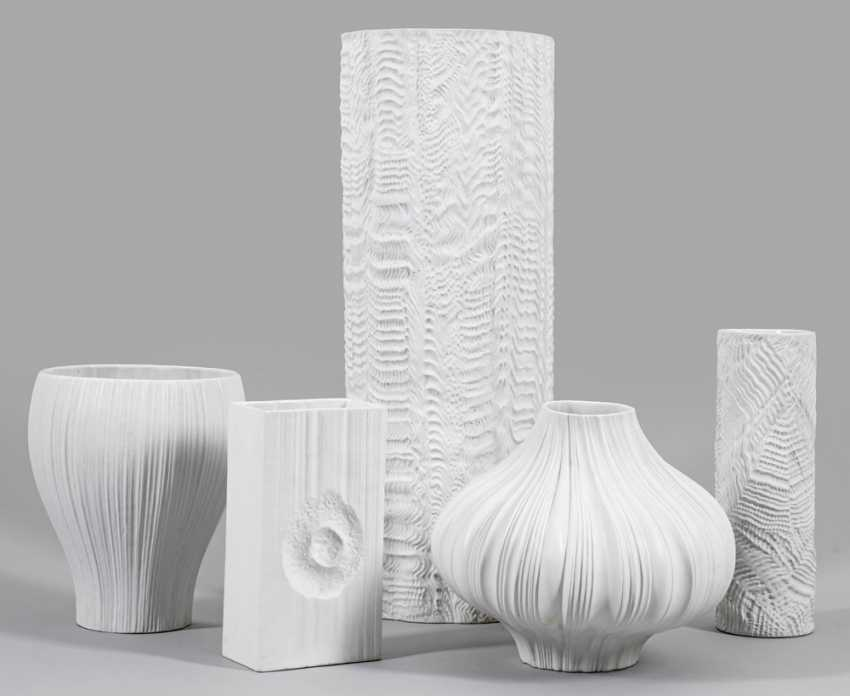 Five ornamental vases after designs by Martin Freyer - photo 1