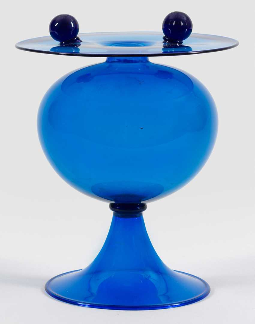 """Exceptional """"Soffiato""""Vase with ball applications - photo 1"""