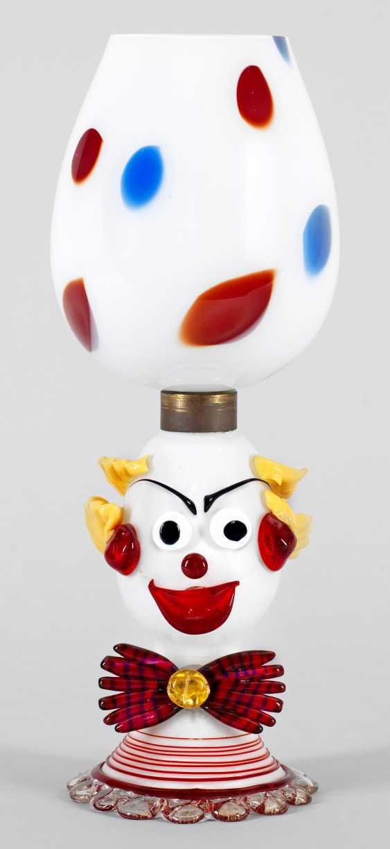 Table lamp with clown bust - photo 1