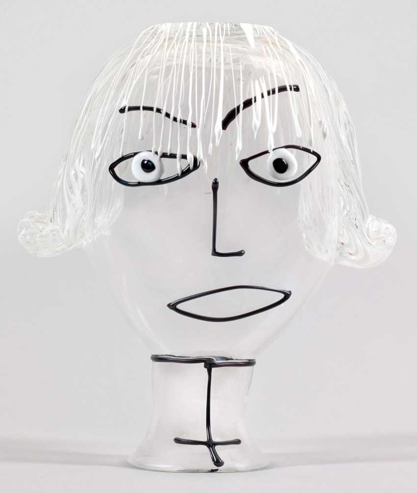 Modern, sculptural Vase with a girl's head by Fulvio Bianconi - photo 1