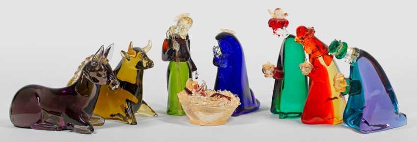 Rare creche with glass figurines - photo 1