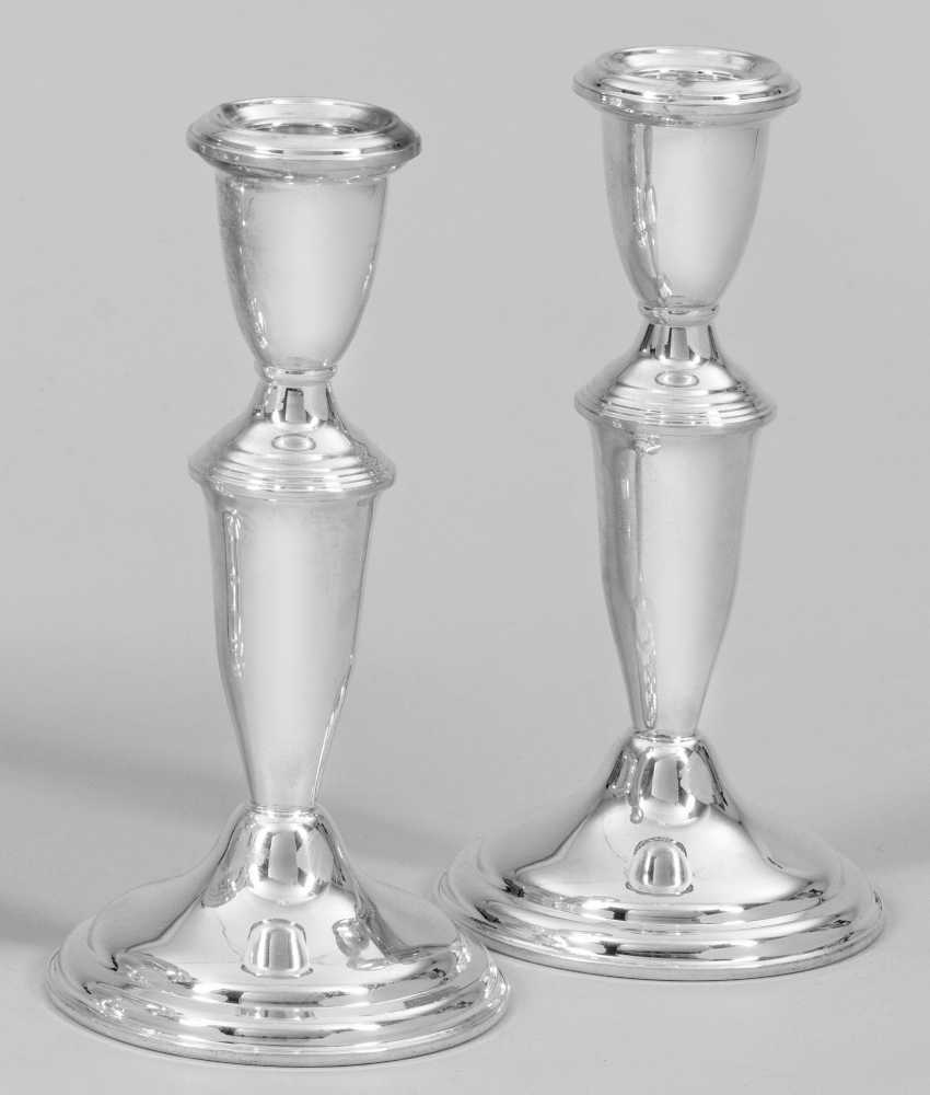 Pair of small table candlesticks - photo 1