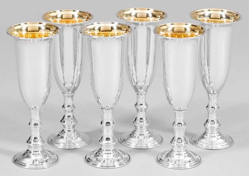 Six Champagne Goblets - photo 1
