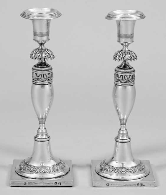 Pair of small Empire candelabra - photo 1