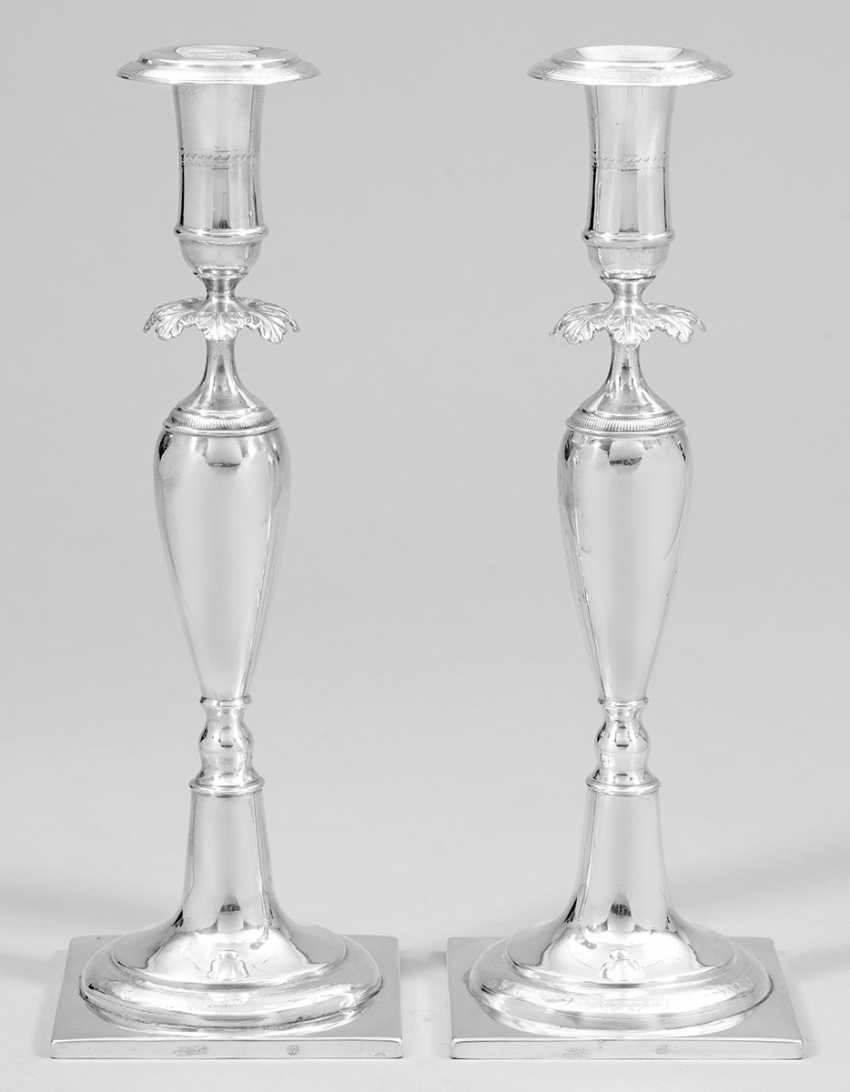 Pair Of Biedermeier Candelabra - photo 1