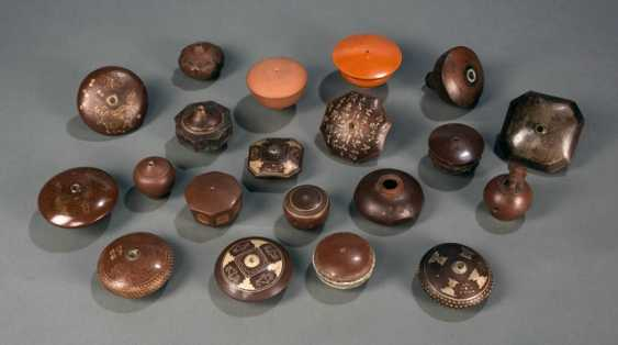 20 opium pipe bowls made of Zisha Ware with a variety of decors - photo 1