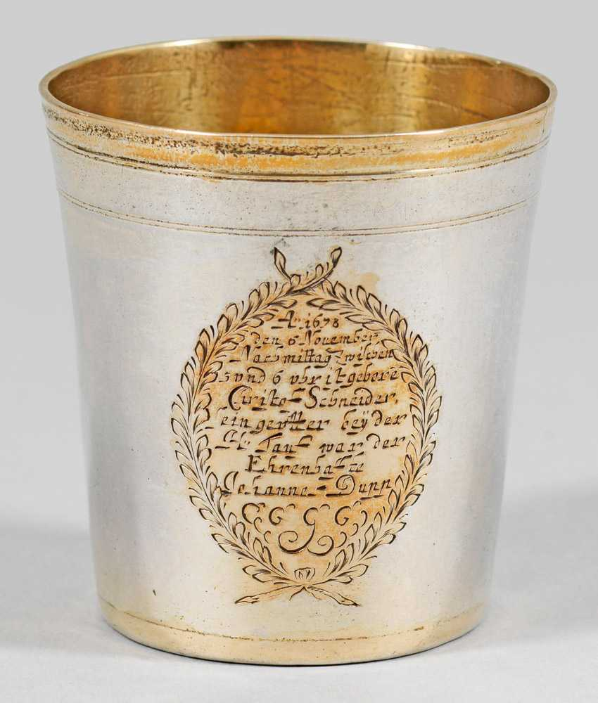 Rare small christening mug - photo 1
