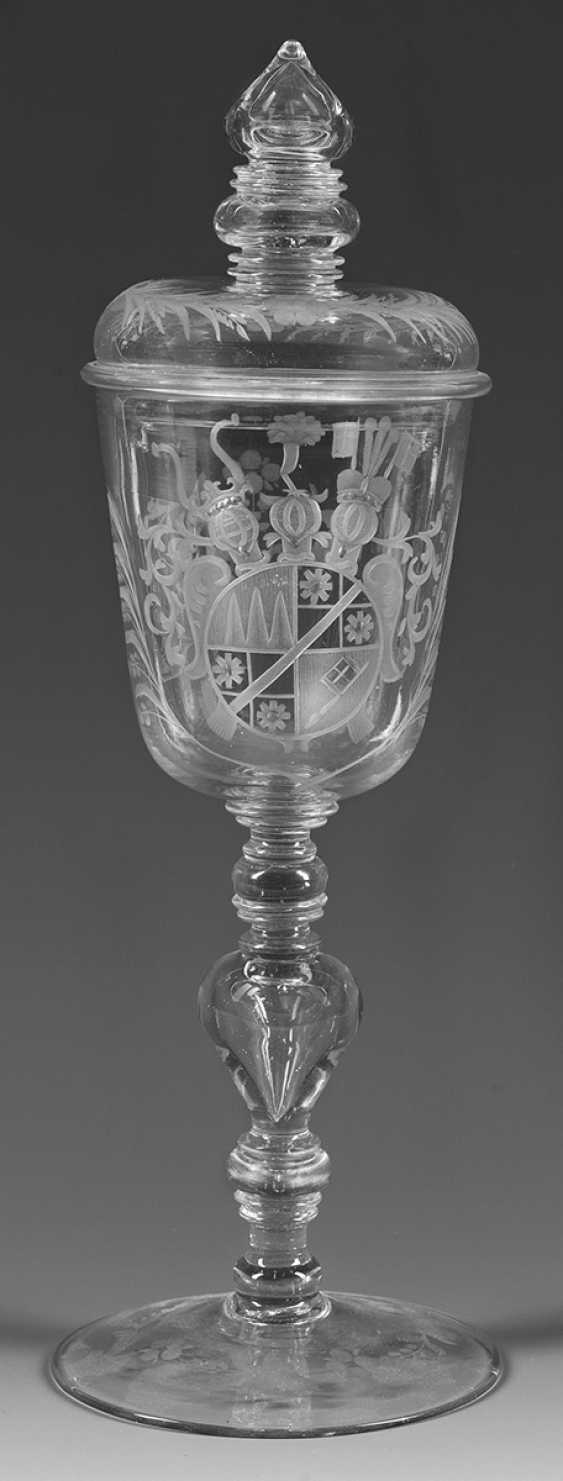 Baroque-lid Cup with coat of arms of Johann Philipp von - photo 1