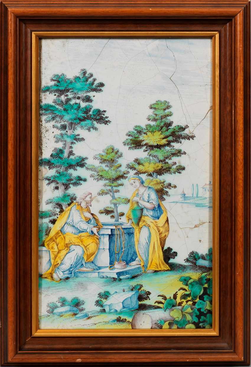 "Image panel with ""Christ and the Samaritan woman at the well"" - photo 1"