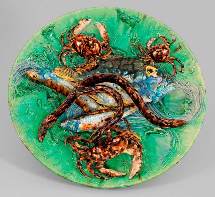 Gorgeous wall plate by Alfred Renoleau - photo 1