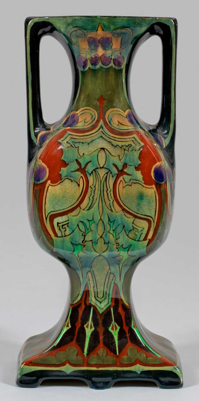 Large Art Nouveau Double Handle Vase - photo 1