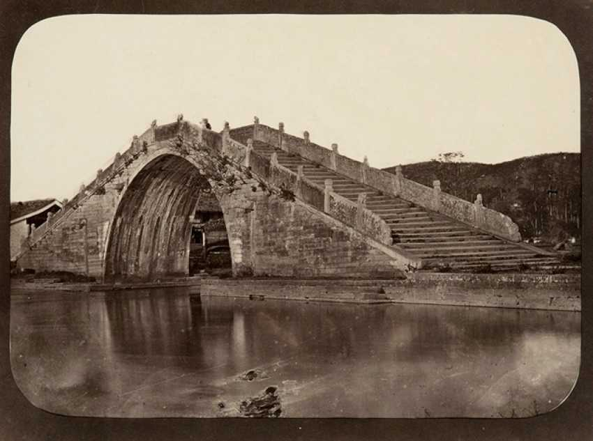Five historic photographs, with scenes from the Jiangnan Region - photo 5