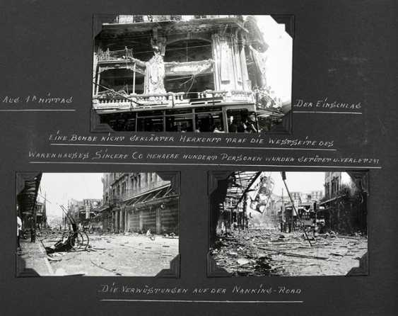 Three photo albums with pictures from Shanghai before and during the Anti-Japanese war - photo 1