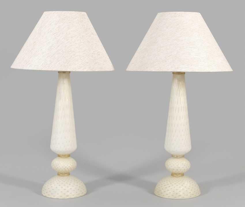 Pair of large Murano table lamps - photo 1