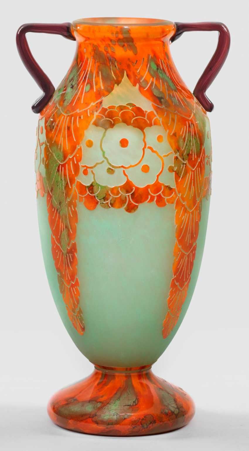 Large Art Deco double handle vase by Charles Schneider - photo 1