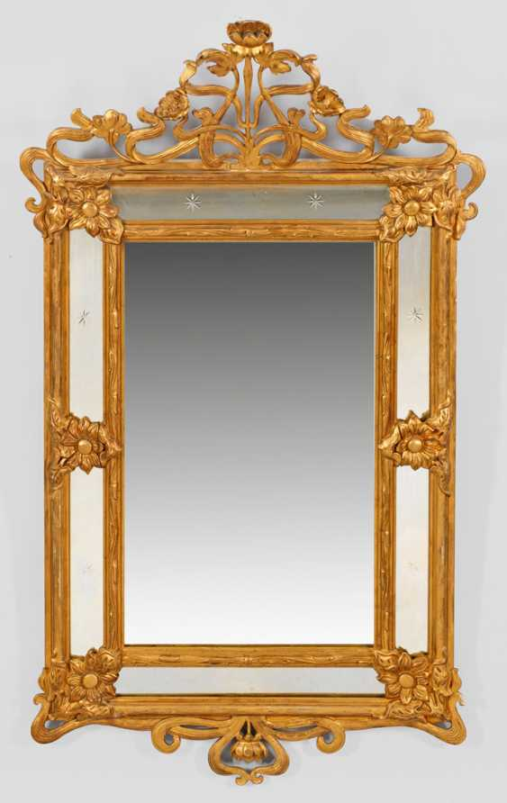 Large Art Nouveau Style Wall Mirror - photo 1