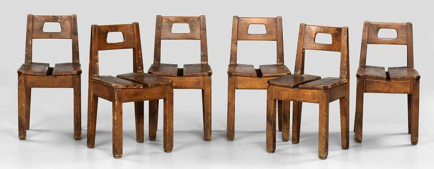 Six rare children's chairs by Richard Riemerschmid - photo 1