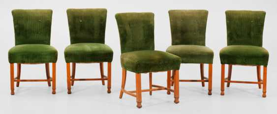 Five Art Deco Dining Room Chairs - photo 1