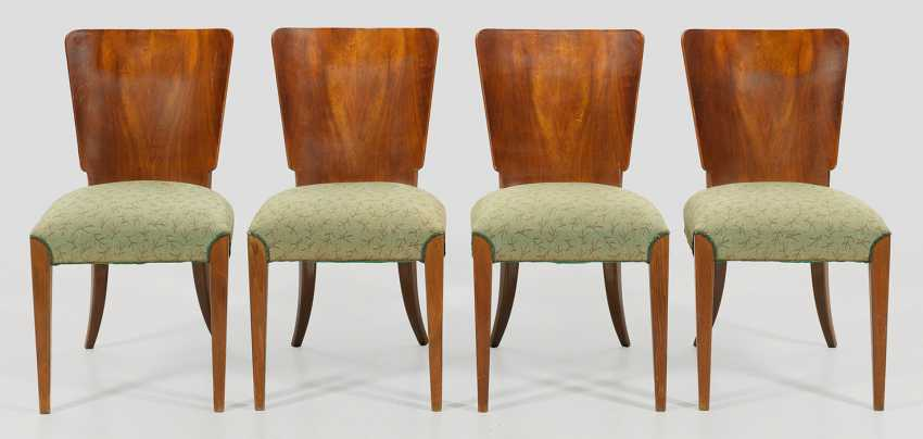 Set of four Art Deco chairs by Jindrich Halabala - photo 1