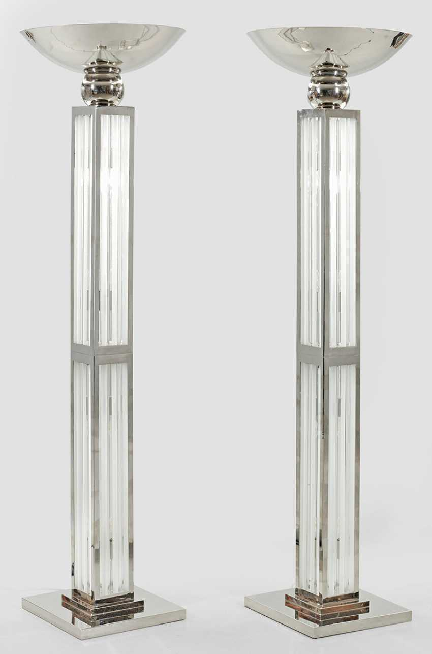 Pair of large ceiling light in Art Deco style - photo 1